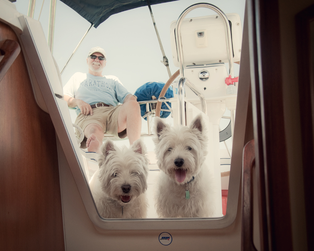 APRIL The captain, the first mate and the bosun.