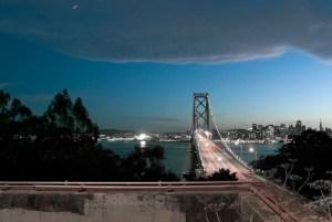Bay Bridge, Cloud, Star, Yerba Buena Island, SF, CA