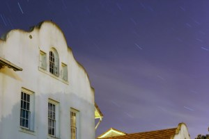 Building, Stars, Tree, The Presidio, SF, CA