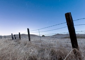 Fence, Stars, Rush Ranch, CA