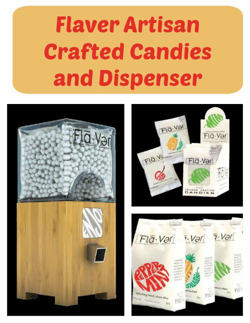 Flaver Artisan Crafted Candies and Dispenser