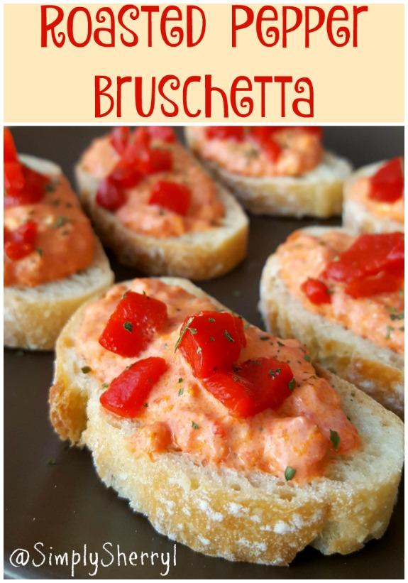 Roasted Pepper Bruschetta