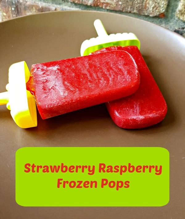 Strawberry Raspberry Frozen Pops