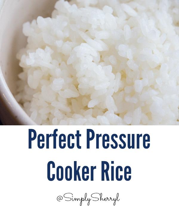 Perfect Pressure Cooker Rice