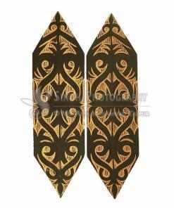 Decorativr Perisai Sarawak Borneo - Terabai Iban - Armor Shields