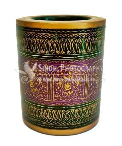 Wooden pen holder jar