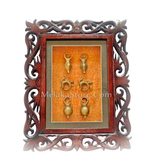 Framed Traditional Sarawak Earrings