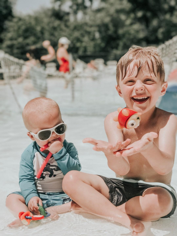 Luke and adam at pool