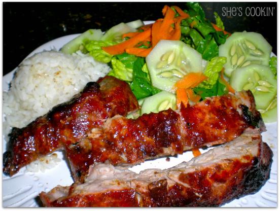 barbecue hoisin pork ribs