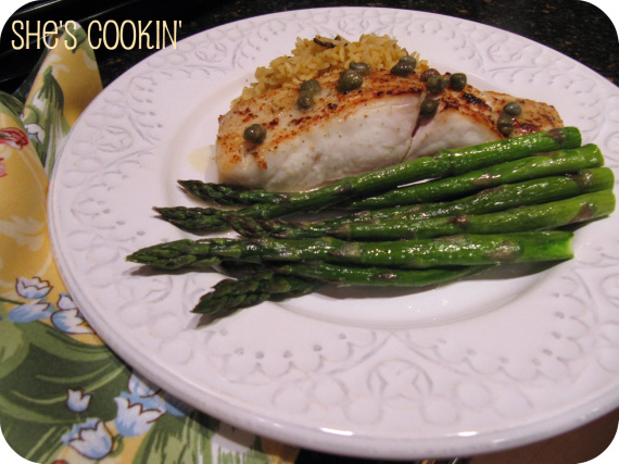 Halibut with Capers and Lemon