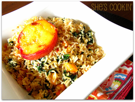 Fried Rice with Spinach2