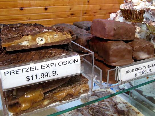 OMG, Chocolate, caramel and crunchy pretzels!