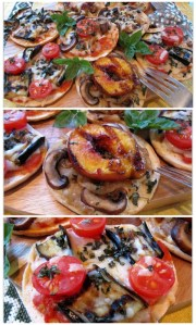 Fruit and Vegetable Pizzettas