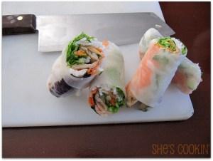 how to make spring rolls, Xanh Bistro Spring Rolls