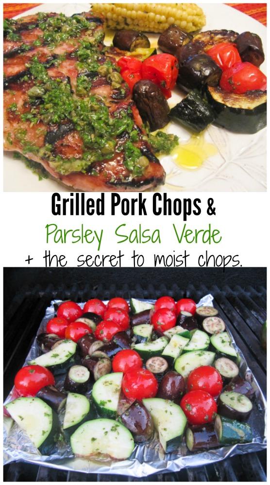 Grilled Pork Chops + Parsley Salsa Verde