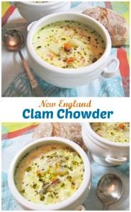 New England Clam Chowder | ShesCookin.com
