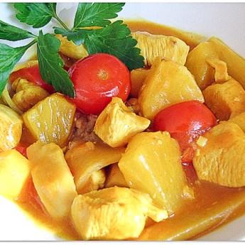 Thai Chicken Pineapple Curry-