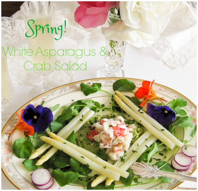 White Asparagus and Crab Salad, Easter