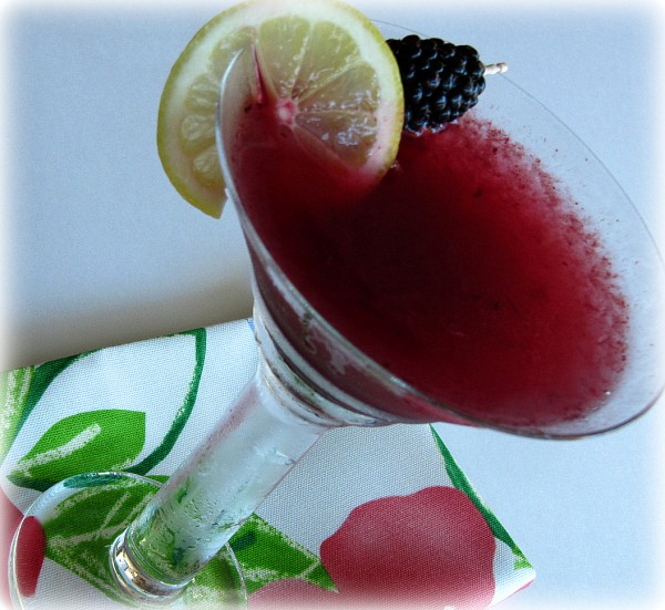 Blackberry Lemonade Martini