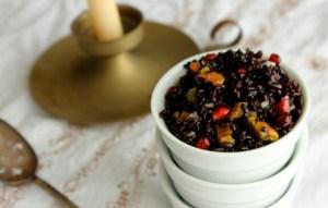 forbidden rice, black rice