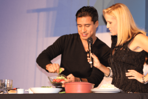 Mario Lopez cooking demo at Restaurant Rave, Style Week OC