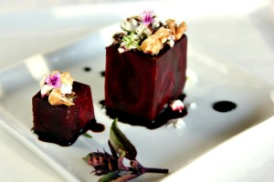 Five Star Beet Salad with Goat Cheese, Walnuts, and Balsamic