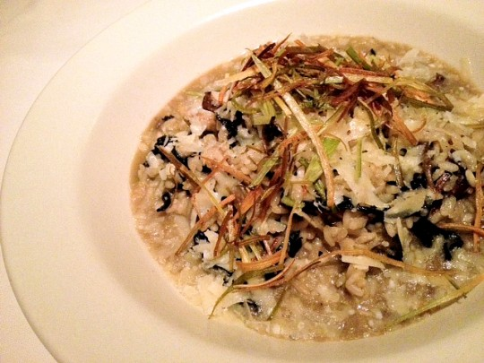 Five Crowns, mushroom risotto