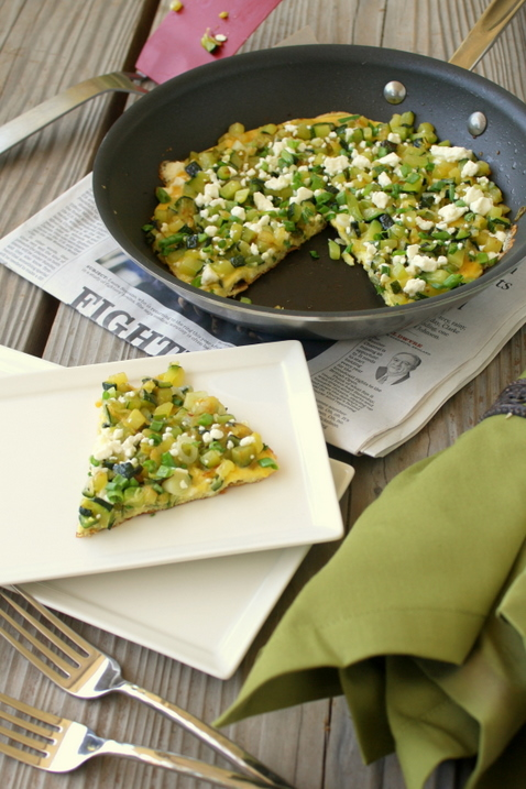 Zucchini-and-Green-Onion-Fritatta-Breakfast