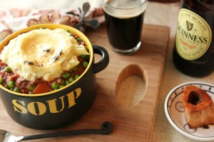Irish stew, beef stew with Guinness,
