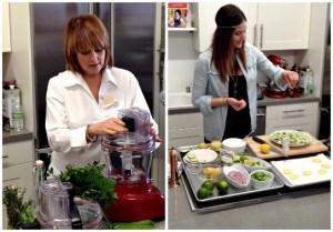 Cristina Ferrare cooking demonstration