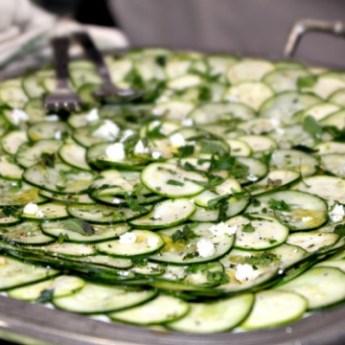 cucumber and zucchini carpaccio