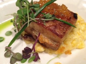 Lucca Cafe, crispy pork belly