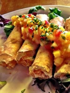 Cha Cha's Latin Kitchen, chicken flautas