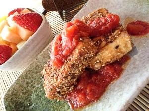 hinese breakfast - crispy tofu
