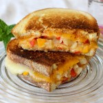 Tillamook Pepper Cheese Grilled Cheese with Mango and Pineapple