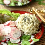 radish salad, asian vinaigrette