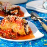 Eggplant Rolls with Yogurt Cheese