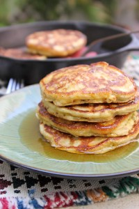 Hatch Chile Candied Bacon Pancakes