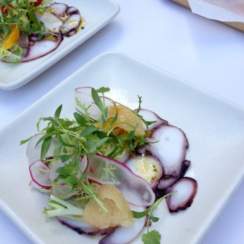 Five Crowns, Octopus Carpaccio, Chef Ryan Wilson, Chef Greg Harrison