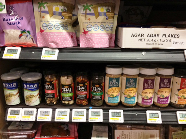 Whole Foods International foods