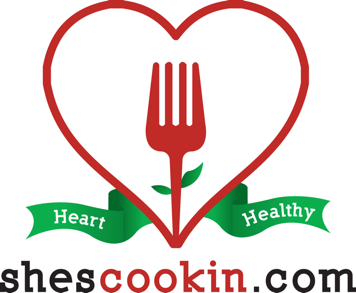 She's Cookin' logo, heart healthy low sodium cooking