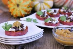 Smoky Sweet Potato Crostini | ShesCookin.com