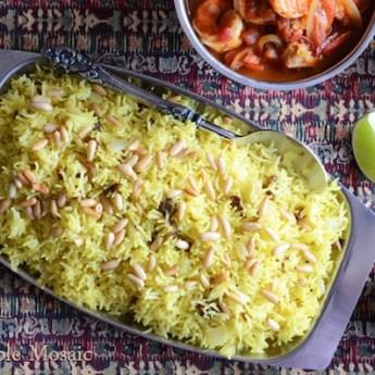Saffron Rice, Edible Mosaic