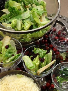 caesar salad, safe caesar salad dressing, holiday caesar salad