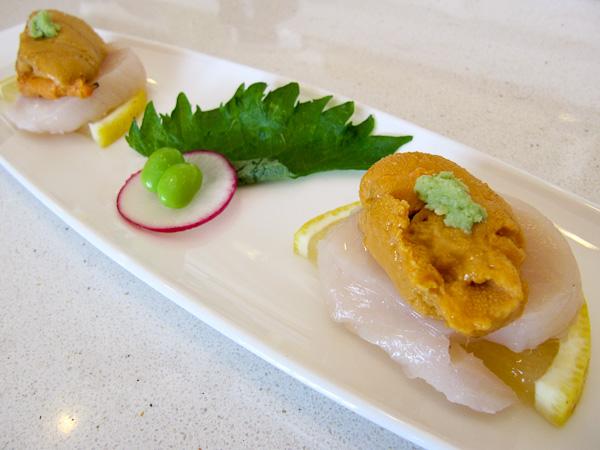 Sushi Noguchi, Uni and Scallops | ShesCookin.com