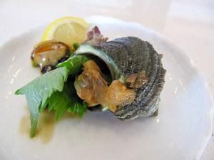 Sushi Noguchi, Japanese snail