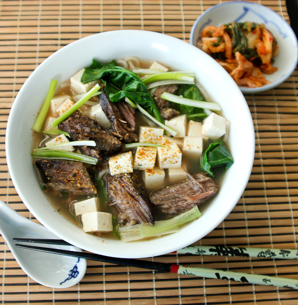 Double Duty Dinners: No-Soy Short Rib Udon | ShesCookin.com
