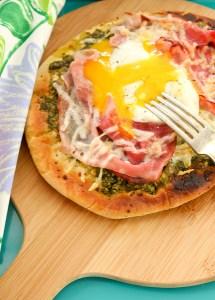 kale pesto, green eggs and ham pizza, Dr. Seuss birthday