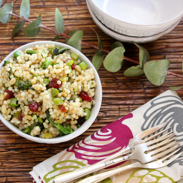 Pearl Couscous with Greens, couscous salad