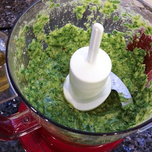 how to make arugula pesto